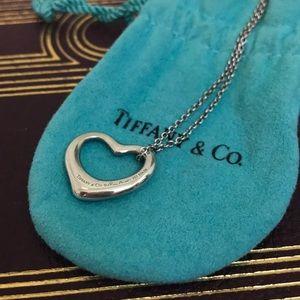 Tiffany & Co. Jewelry - Tiffany & Co. Elsa Peretti Open Heart SS Necklace